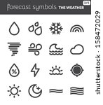 black icons about the weather.... | Shutterstock .eps vector #158472029