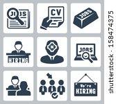 vector job hunting  job search  ... | Shutterstock .eps vector #158474375