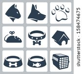 Vector Pet Icons Set  Cat  Dog...
