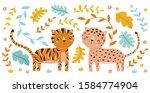 vector cute animals... | Shutterstock .eps vector #1584774904