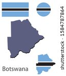 botswana silhouette and flag... | Shutterstock .eps vector #1584787864