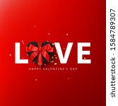 happy valentine's day greeting...   Shutterstock .eps vector #1584789307