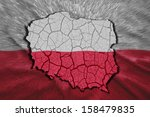 Map Of Poland In National Flag...