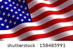 american flag  | Shutterstock . vector #158485991