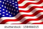 american flag  | Shutterstock . vector #158486015
