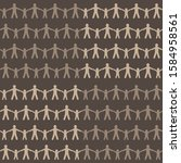 brown beige silhouettes of... | Shutterstock .eps vector #1584958561