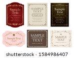 elegant and antique card set | Shutterstock .eps vector #1584986407