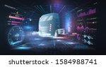 autonomous smart truck.... | Shutterstock .eps vector #1584988741