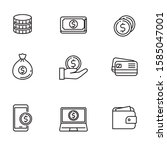 set of money icon with black...   Shutterstock .eps vector #1585047001