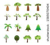 flat icon tree collection... | Shutterstock .eps vector #1585070404