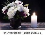 Bouquet Of White Flowers In A...