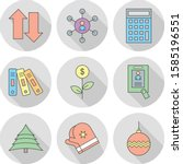 universal icons sheet for your... | Shutterstock .eps vector #1585196551