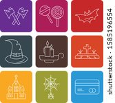 simple set of universal icons... | Shutterstock .eps vector #1585196554