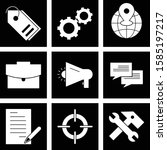 set of universal icons for... | Shutterstock .eps vector #1585197217