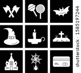 simple set of universal icons... | Shutterstock .eps vector #1585197244