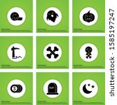 user interface icon set for web ... | Shutterstock .eps vector #1585197247