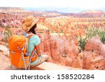 Hiker Woman In Bryce Canyon...