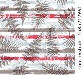 exotic new zealand fern frond... | Shutterstock .eps vector #1585212961