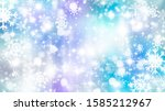 blue winter background  bokeh ... | Shutterstock . vector #1585212967