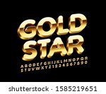 vector chic sign with text gold ... | Shutterstock .eps vector #1585219651