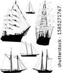 illustration with ship... | Shutterstock .eps vector #1585271767