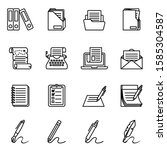 document  paper and folder icon ...   Shutterstock .eps vector #1585304587