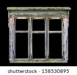 Old Rustic Wooden Window Frame...
