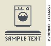 Washing Machine Icon Or Sign ...