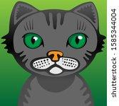 cat face avatar for social... | Shutterstock .eps vector #1585344004