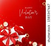happy valentine's day card.... | Shutterstock .eps vector #1585347667