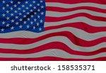 american flag  | Shutterstock . vector #158535371