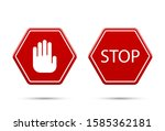 stop icons. graphic template.... | Shutterstock .eps vector #1585362181