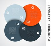 vector circle infographic.... | Shutterstock .eps vector #158540387