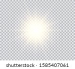 gold or white glowing light...   Shutterstock .eps vector #1585407061