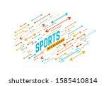 sports geometric background... | Shutterstock . vector #1585410814