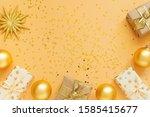 festive background  gift boxes... | Shutterstock . vector #1585415677