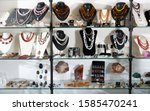 variety of necklaces  bracelets ... | Shutterstock . vector #1585470241