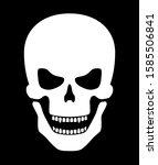 scary white halloween bone... | Shutterstock .eps vector #1585506841