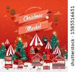 christmas market poster.... | Shutterstock .eps vector #1585516651