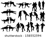 drawing of a dancing man in a... | Shutterstock . vector #158552594