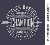 typographic vectorial badge ... | Shutterstock .eps vector #1585530844