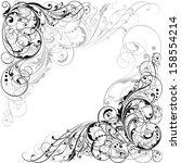 floral design.detailed floral...   Shutterstock .eps vector #158554214