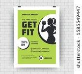fitness center flyer modern... | Shutterstock .eps vector #1585549447