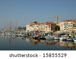 marina in cannes  southern... | Shutterstock . vector #15855529