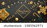 christmas background. merry... | Shutterstock .eps vector #1585562971