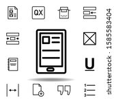 tablet  text icon. can be used...