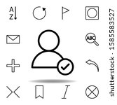 user  check mark icon. can be...