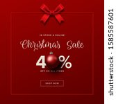 holiday sale design. holiday... | Shutterstock .eps vector #1585587601