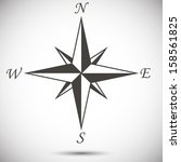 abstract wind rose on white... | Shutterstock .eps vector #158561825