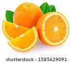 Fresh Orange Fruit Isolated On...